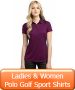 Ladies & Women Polo Golf Sport Shirts