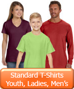 Youth Ladies Mens Standard T-shirts