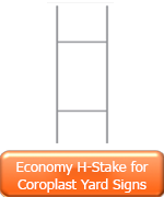 Economy H-Stake for coroplast yard signs