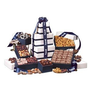 """Park Avenue"" Tower of Chocolate in Navy"